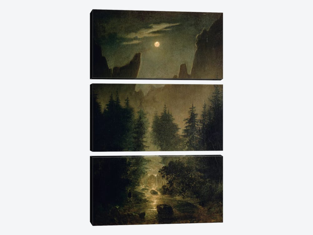 Uttewalder Grund, c.1825 by Caspar David Friedrich 3-piece Canvas Artwork
