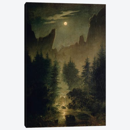 Uttewalder Grund, c.1825  Canvas Print #BMN779} by Caspar David Friedrich Canvas Wall Art