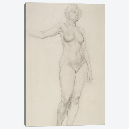 Standing Female Nude, 1914 Canvas Print #BMN7800} by Dora Carrington Canvas Artwork