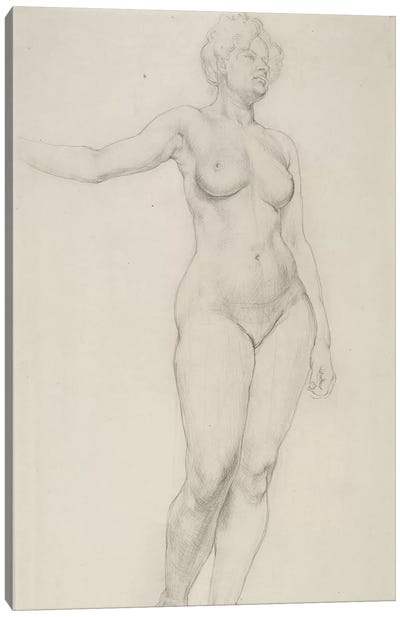 Standing Female Nude, 1914 Canvas Art Print