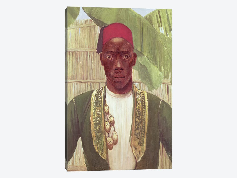 King Mutesa Of Buganda, From A Photo by Dorothy Tennant 1-piece Canvas Art Print