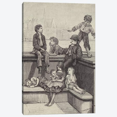 London Street Arabs (litho) IV Canvas Print #BMN7807} by Dorothy Tennant Canvas Print