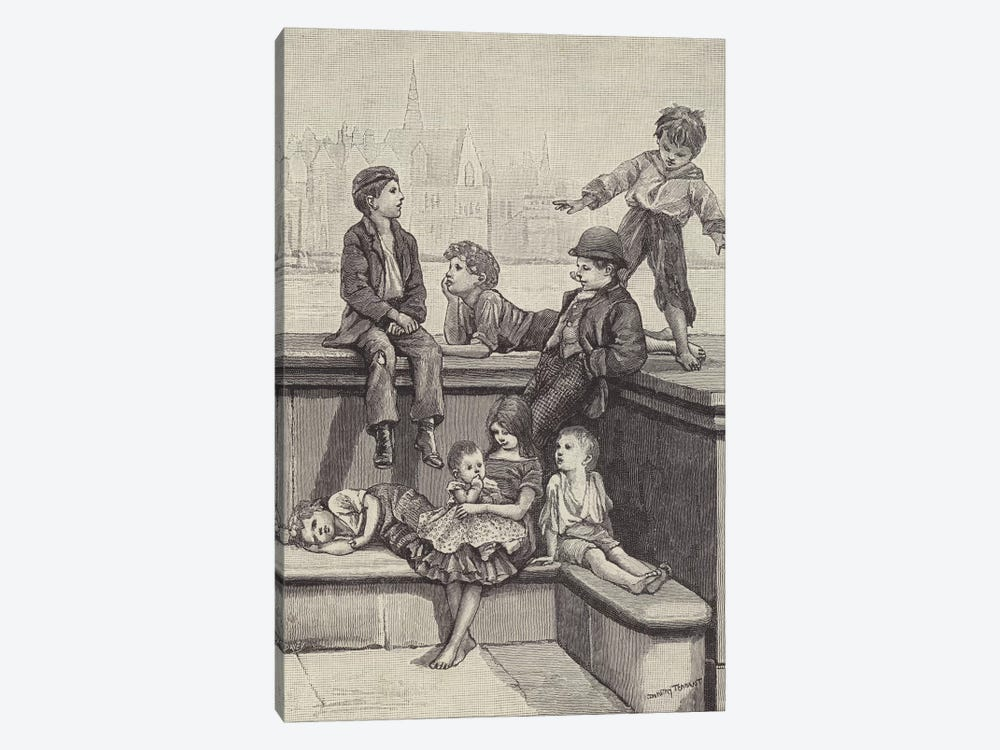 London Street Arabs (litho) IV by Dorothy Tennant 1-piece Art Print
