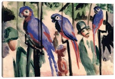 Blue Parrots  Canvas Art Print