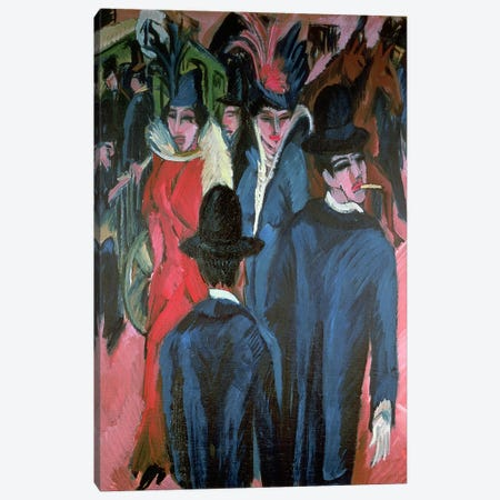 Berlin Street Scene, 1913  Canvas Print #BMN781} by Ernst Ludwig Kirchner Canvas Print