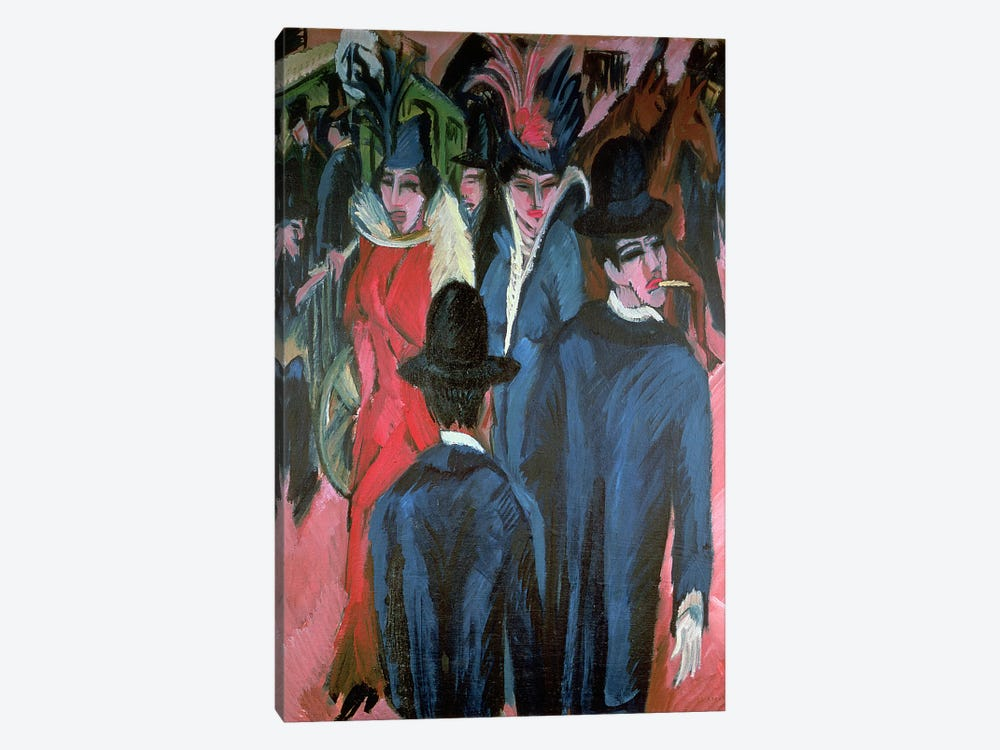 Berlin Street Scene, 1913  by Ernst Ludwig Kirchner 1-piece Canvas Print