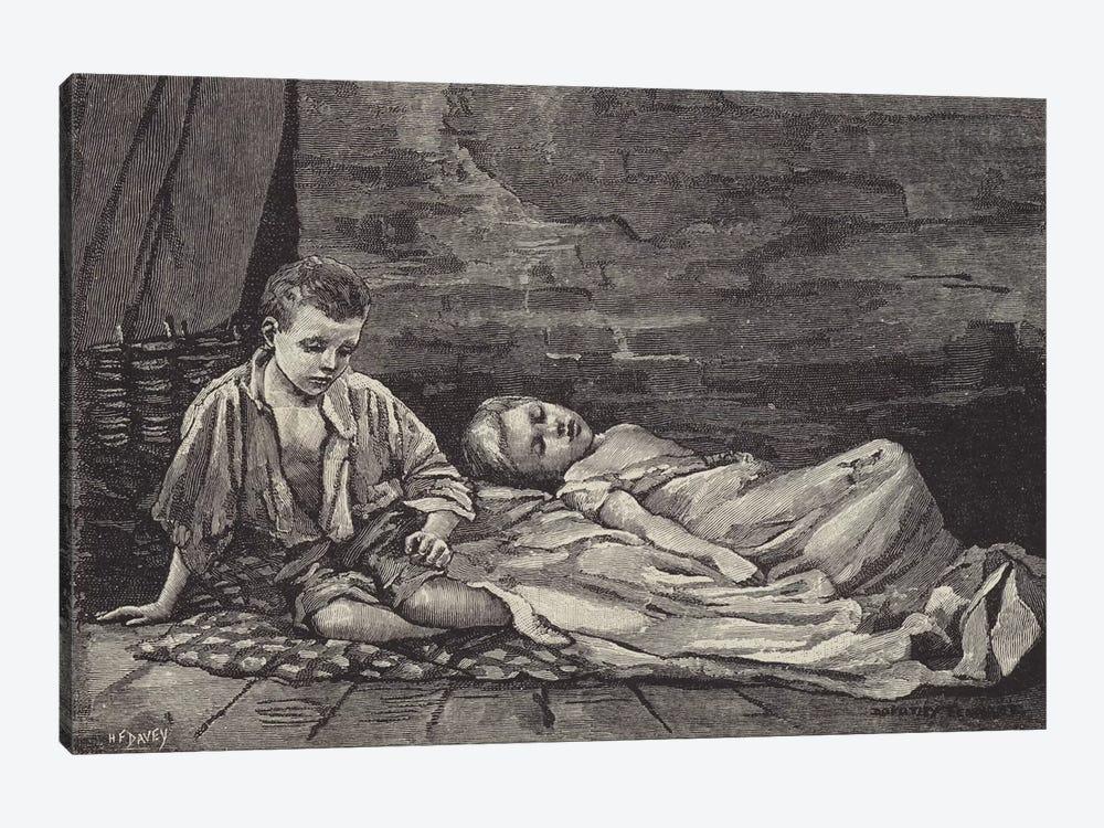 London Street Arabs (litho) XX by Dorothy Tennant 1-piece Canvas Print