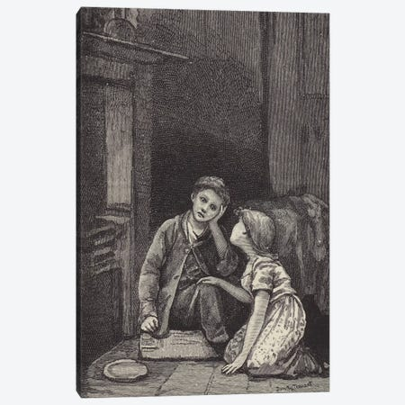 London Street Arabs (litho) XXXI Canvas Print #BMN7834} by Dorothy Tennant Canvas Art