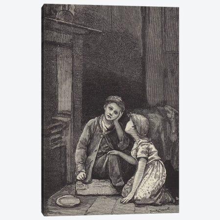 London Street Arabs (litho) XXXI Canvas Print #BMN7834} by Dorothy Tennant Canvas Art