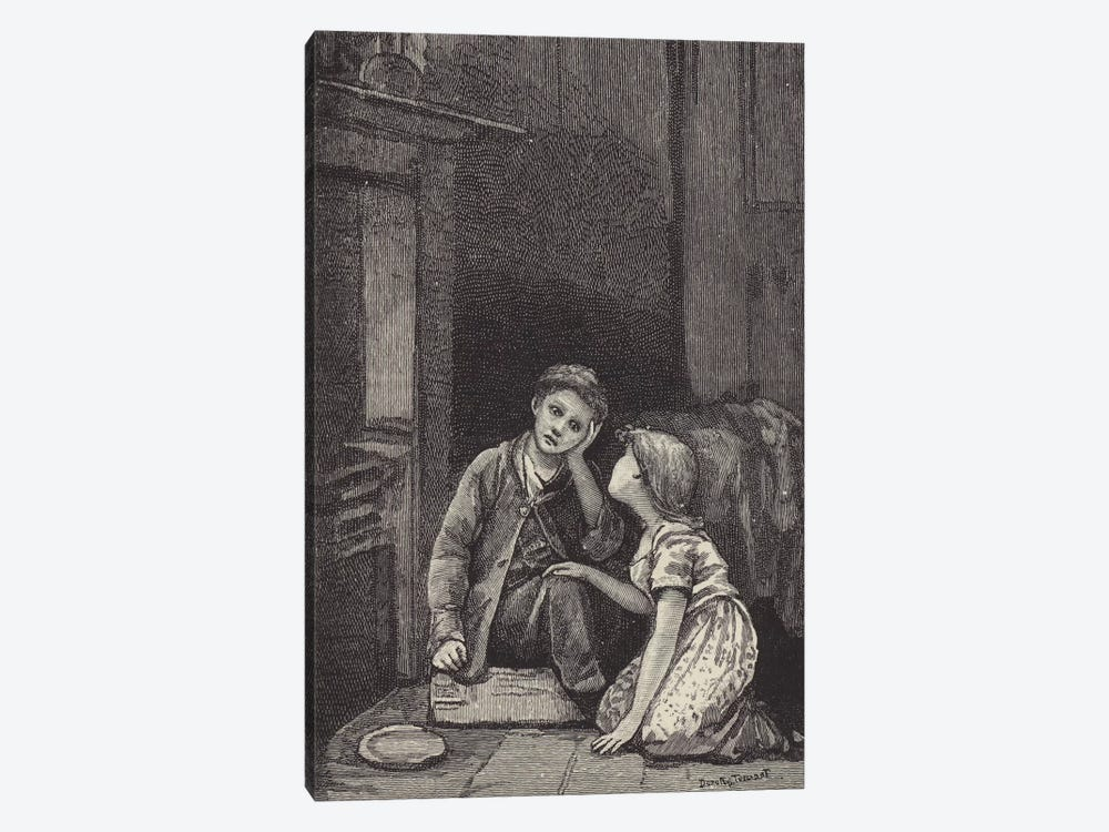 London Street Arabs (litho) XXXI by Dorothy Tennant 1-piece Canvas Print
