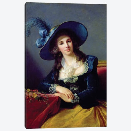 Antoinette-Elisabeth-Marie d'Aguesseau (1756-1828) Countess Of Segur, 1785 3-Piece Canvas #BMN7839} by Elisabeth Louise Vigee Le Brun Canvas Print