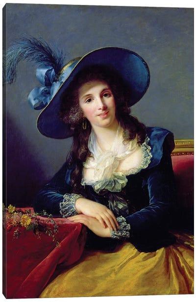 Antoinette-Elisabeth-Marie d'Aguesseau (1756-1828) Countess Of Segur, 1785 Canvas Art Print