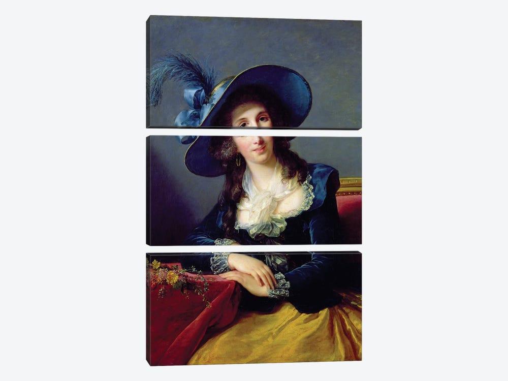 Antoinette-Elisabeth-Marie d'Aguesseau (1756-1828) Countess Of Segur, 1785 by Elisabeth Louise Vigee Le Brun 3-piece Canvas Artwork
