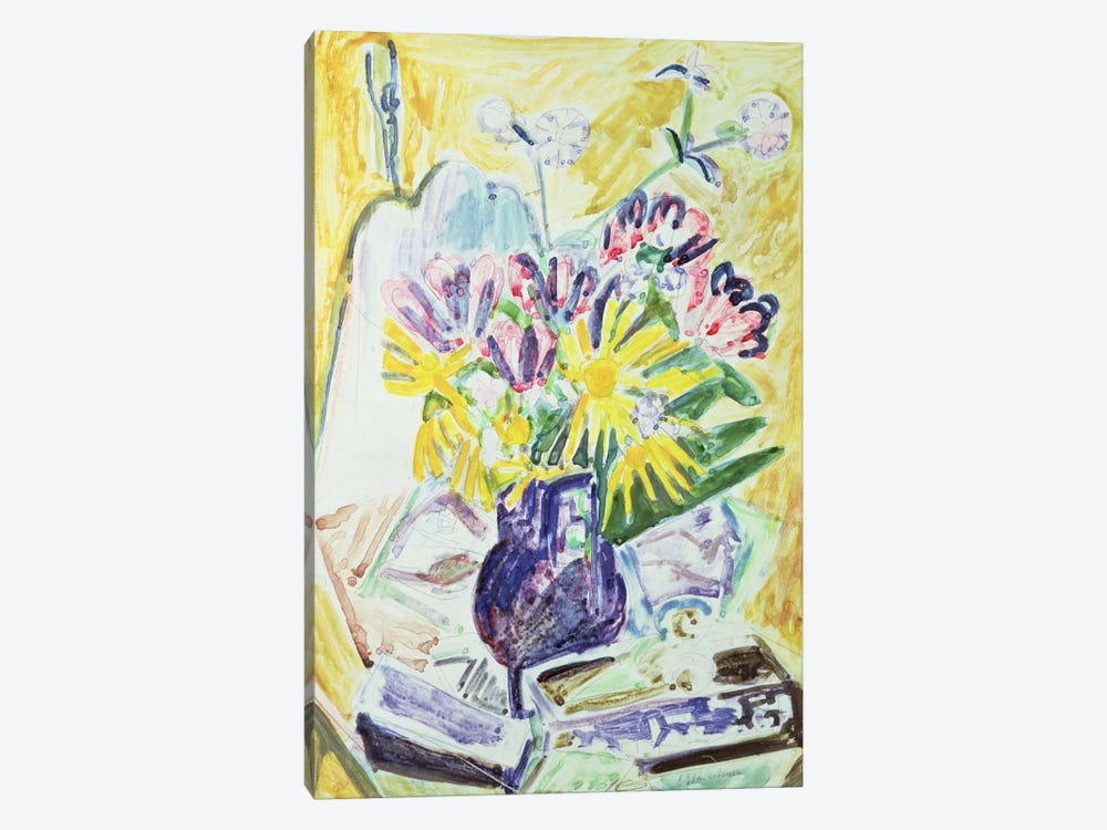 Flowers in a Vase, 1918-19  by Ernst Ludwig Kirchner 1-piece Art Print