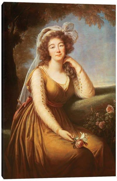 Comtesse Du Barry, Holding A Rose Canvas Art Print