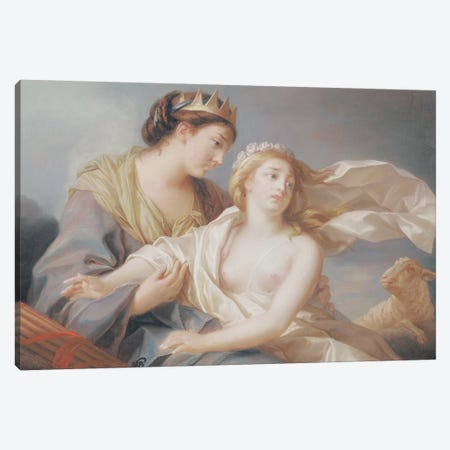 Innocence Takes Refuge In The Arms Of Justice Canvas Print #BMN7841} by Elisabeth Louise Vigee Le Brun Canvas Artwork