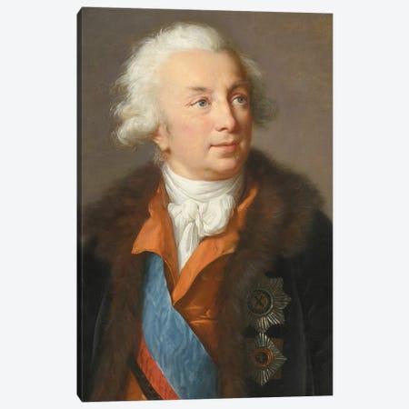 Ivan Ivanovich Shuvalov (1727–1797), c.1795-1797 Canvas Print #BMN7843} by Elisabeth Louise Vigee Le Brun Canvas Wall Art