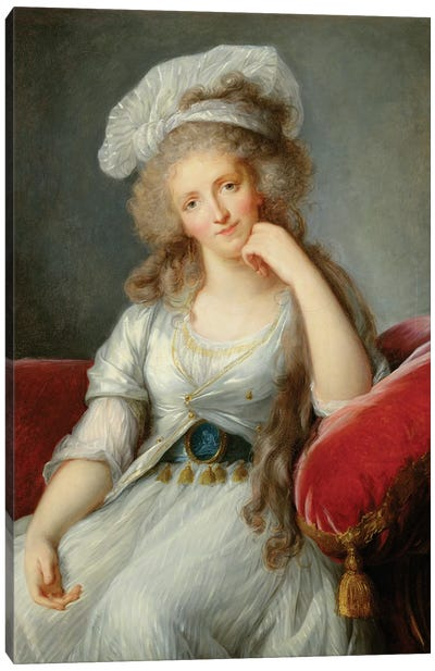 Louise-Marie Adelaide, Duchesse d'Orleans Canvas Art Print