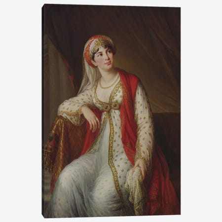 Madame Giuseppina Grassini (1773-1850) In The Role Of Zaire, 1805 Canvas Print #BMN7846} by Elisabeth Louise Vigee Le Brun Canvas Print