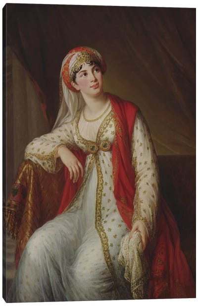 Madame Giuseppina Grassini (1773-1850) In The Role Of Zaire, 1805 Canvas Art Print