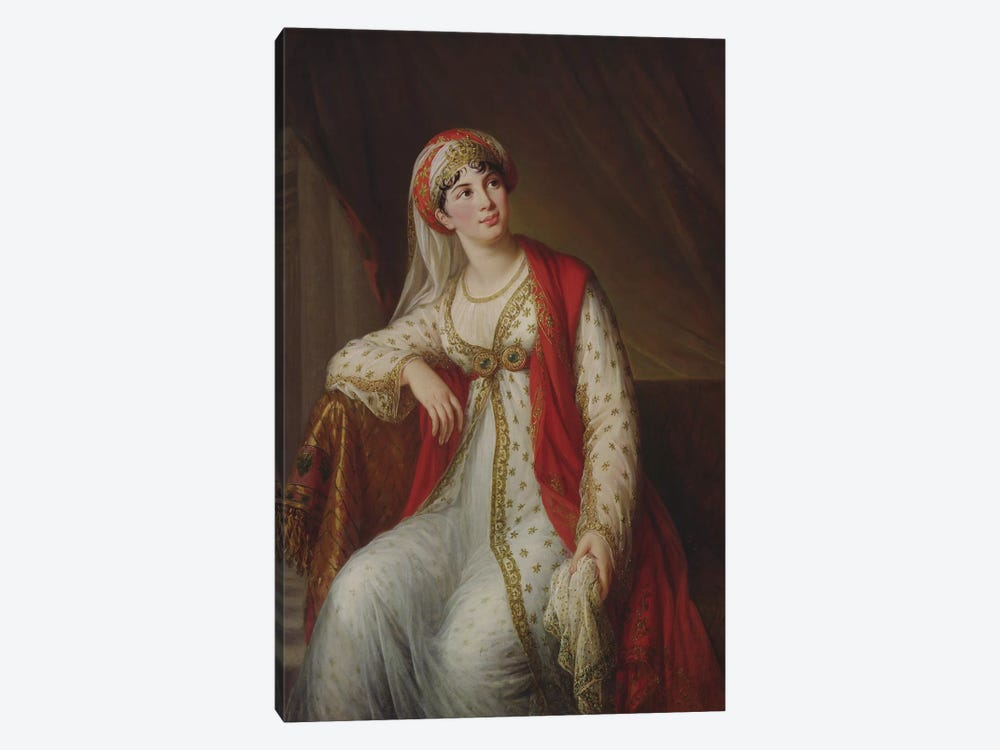 Madame Giuseppina Grassini (1773-1850) In The Role Of Zaire, 1805 by Elisabeth Louise Vigee Le Brun 1-piece Canvas Artwork