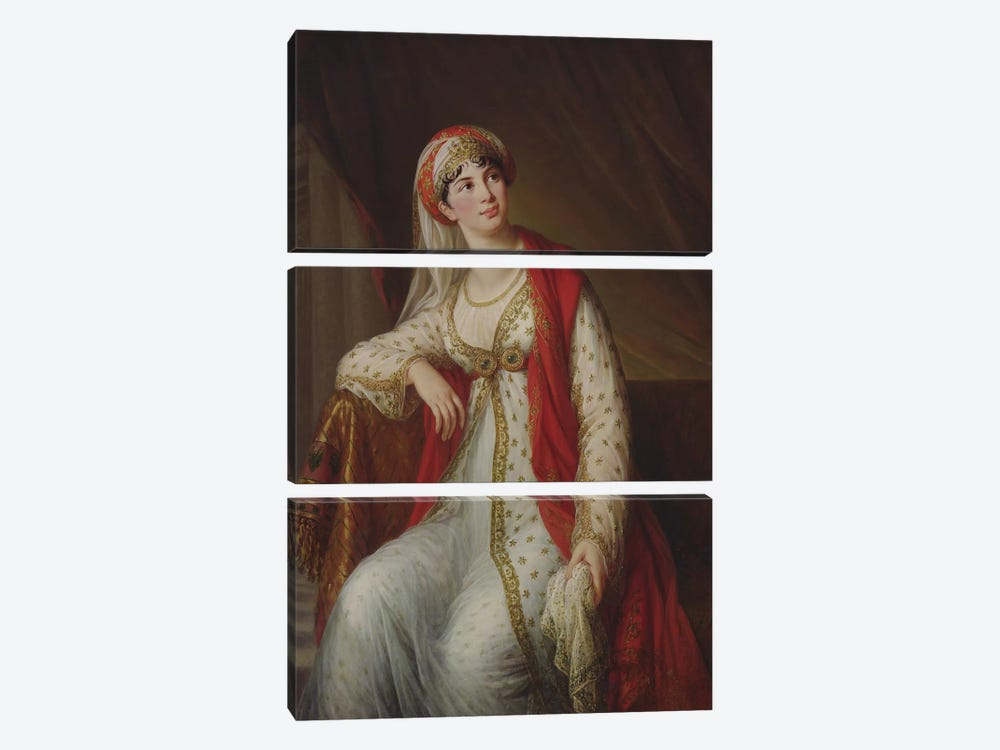 Madame Giuseppina Grassini (1773-1850) In The Role Of Zaire, 1805 by Elisabeth Louise Vigee Le Brun 3-piece Canvas Wall Art