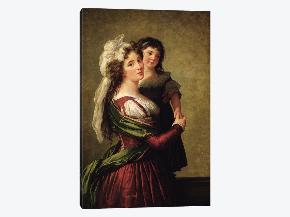 Madame Rousseau And Her Daughter, 1789 by Elisabeth Louise Vigee Le Brun 1-piece Canvas Print