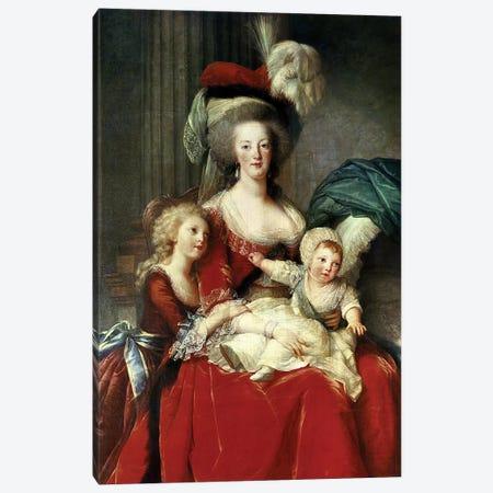 Marie-Antoinette (1755-93) And Her Four Children, 1787 Canvas Print #BMN7848} by Elisabeth Louise Vigee Le Brun Canvas Art
