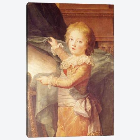 Marie-Antoinette And Her Children, Detail Of Louis-Joseph-Xavier (1781-89) Canvas Print #BMN7849} by Elisabeth Louise Vigee Le Brun Canvas Artwork
