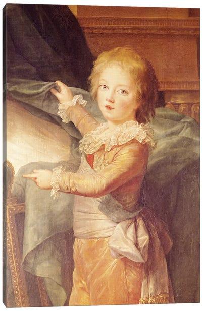 Marie-Antoinette And Her Children, Detail Of Louis-Joseph-Xavier (1781-89) Canvas Art Print