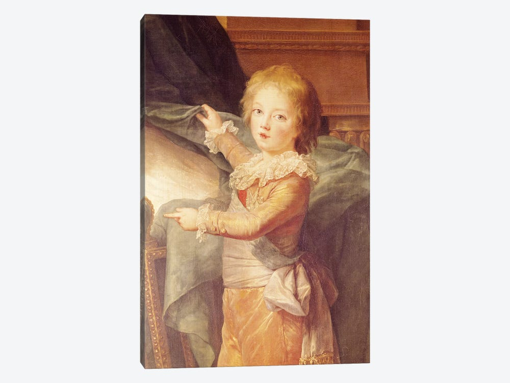 Marie-Antoinette And Her Children, Detail Of Louis-Joseph-Xavier (1781-89) by Elisabeth Louise Vigee Le Brun 1-piece Canvas Art Print