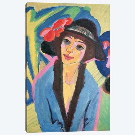 Portrait of Gerda Canvas Print #BMN784} by Ernst Ludwig Kirchner Canvas Artwork