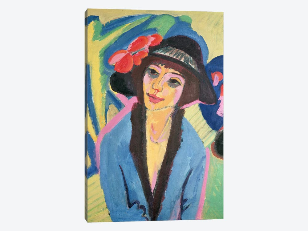 Portrait of Gerda by Ernst Ludwig Kirchner 1-piece Canvas Artwork