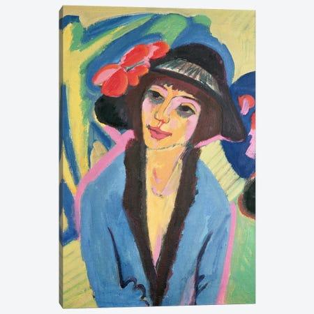 Portrait of Gerda Canvas Print #BMN784} by Ernst Ludwig Kirchner Canvas Artwork