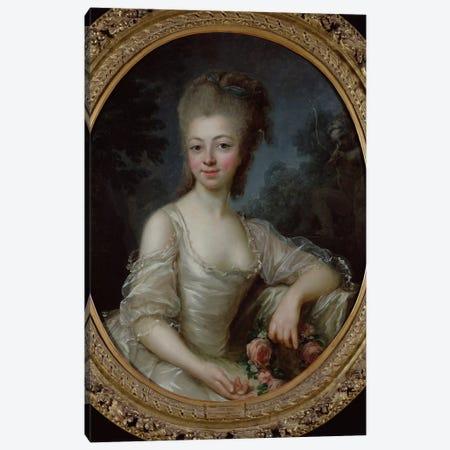 Portrait Of A Young Girl, 1775 Canvas Print #BMN7855} by Elisabeth Louise Vigee Le Brun Canvas Art