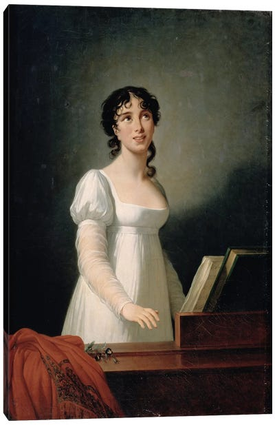 Portrait Of Angelica Catalani (1780-1849) Canvas Art Print
