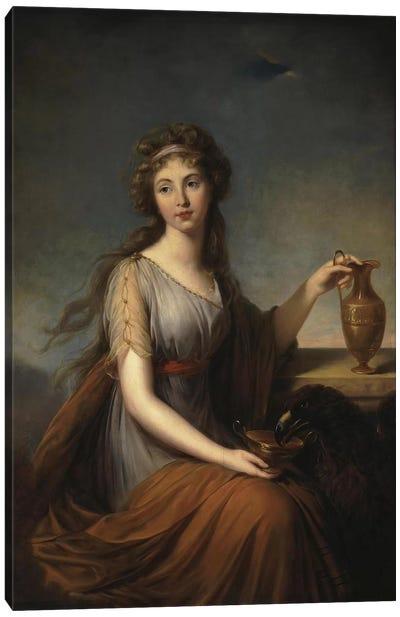Portrait Of Anna Pitt, As Hebe, 1792 Canvas Art Print