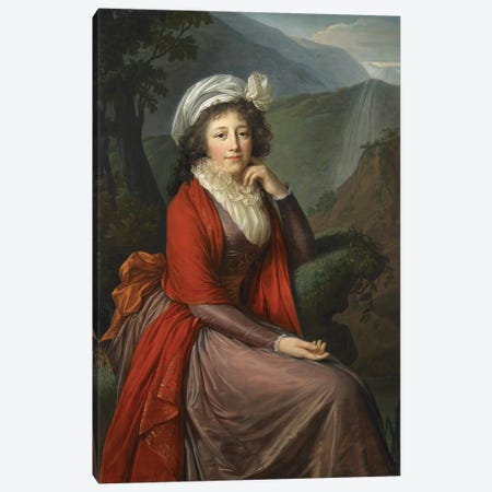 Portrait Of Countess Maria Theresia Bucquoi, 1793 Canvas Print #BMN7859} by Elisabeth Louise Vigee Le Brun Canvas Print