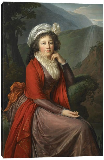 Portrait Of Countess Maria Theresia Bucquoi, 1793 Canvas Art Print