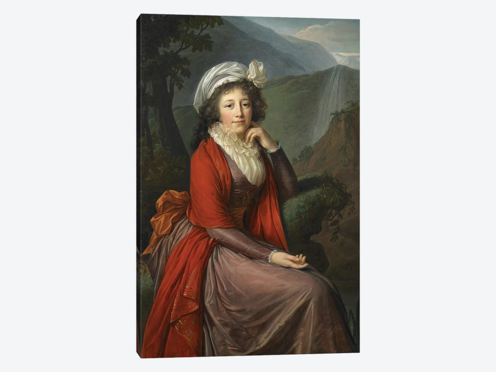 Portrait Of Countess Maria Theresia Bucquoi, 1793 by Elisabeth Louise Vigee Le Brun 1-piece Canvas Art