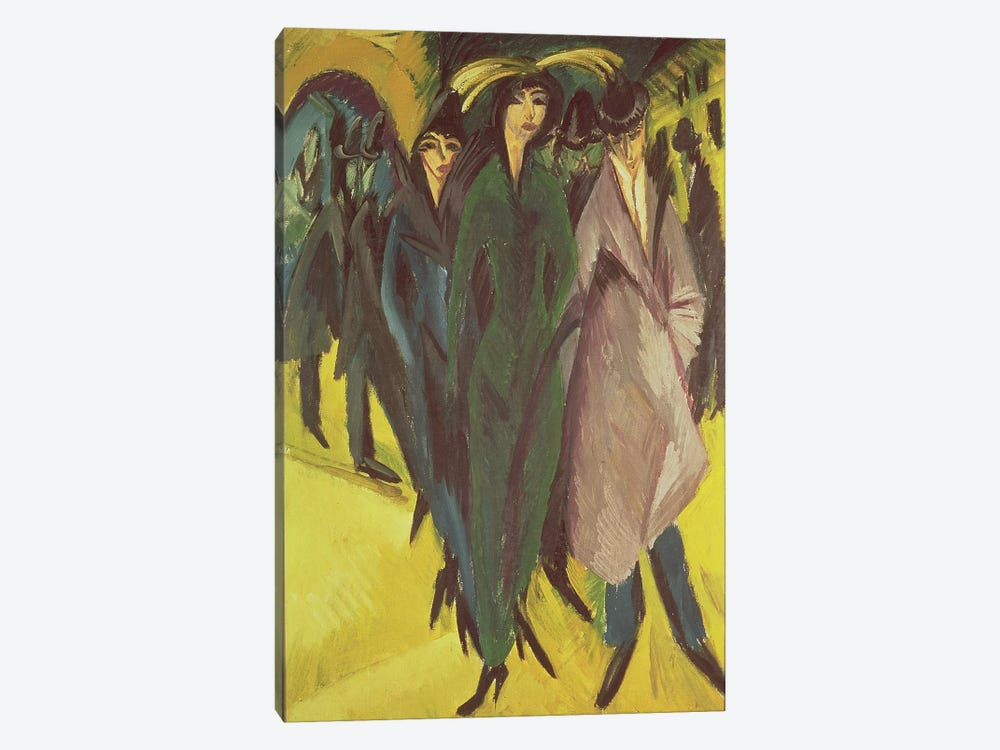 Women on the Street, 1915  by Ernst Ludwig Kirchner 1-piece Art Print