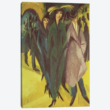 Women on the Street, 1915  Canvas Print #BMN785} by Ernst Ludwig Kirchner Canvas Artwork