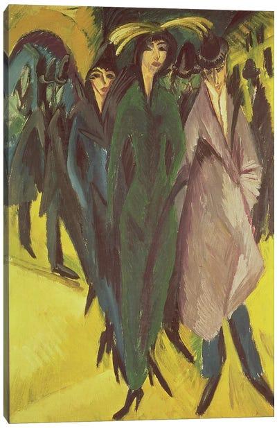 Women on the Street, 1915  Canvas Art Print