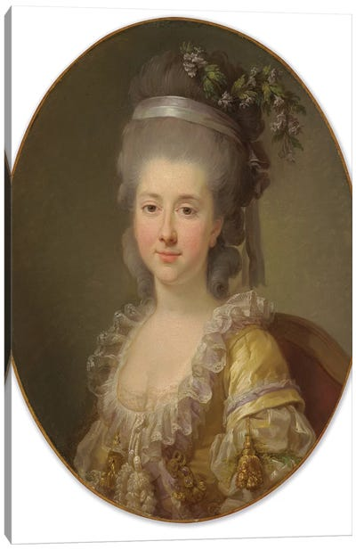 Portrait Of Countess Urszula Potocka, Née Zamoyska Canvas Art Print