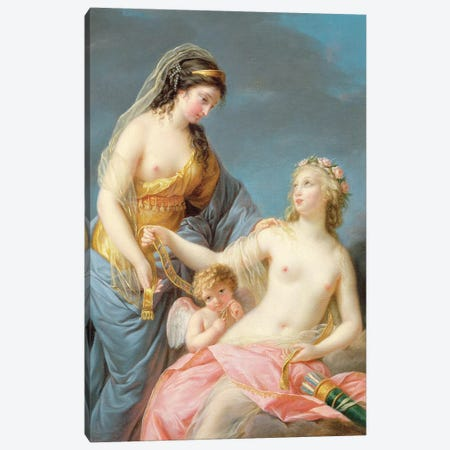 Portrait Of Emma Hart As A Sybil Canvas Print #BMN7861} by Elisabeth Louise Vigee Le Brun Canvas Wall Art
