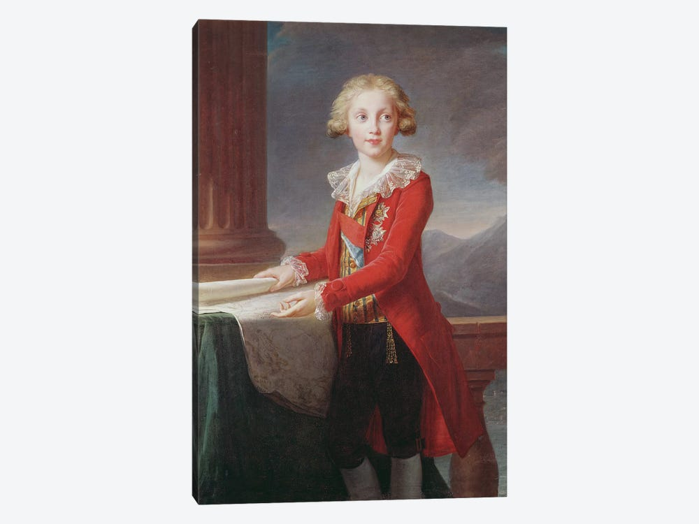 Portrait Of Francis I Of The Two Sicilies (Full) by Elisabeth Louise Vigee Le Brun 1-piece Canvas Art