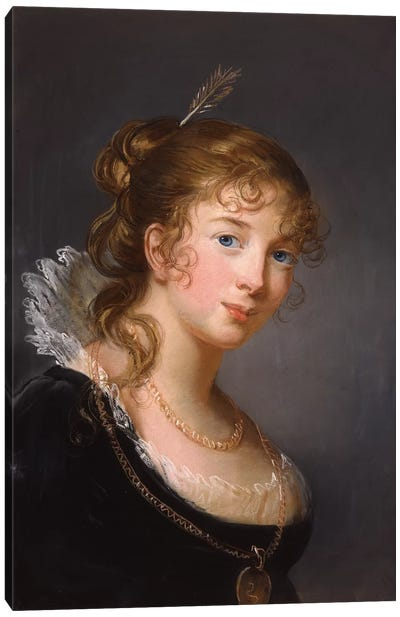 Portrait Of Louisa, Princess Radziwill Canvas Art Print