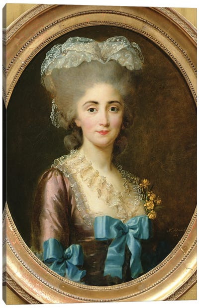 Portrait Of Madame Lesould, 1780 Canvas Art Print