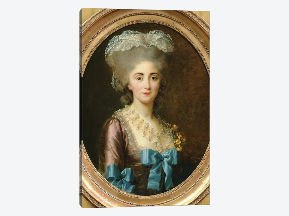 Portrait Of Madame Lesould, 1780 by Elisabeth Louise Vigee Le Brun 1-piece Canvas Wall Art