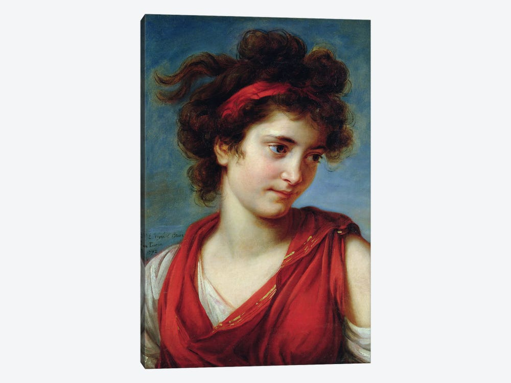 Portrait Of Maguerite Porporati, 1792 by Elisabeth Louise Vigee Le Brun 1-piece Canvas Print